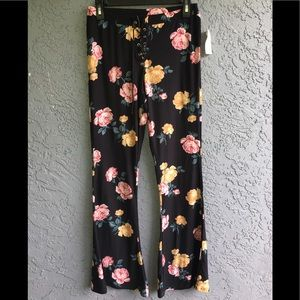 Floral print bell bottoms
